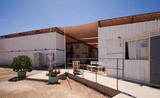 Shipping Container Miner S Hotel In Chilean Desert Capped