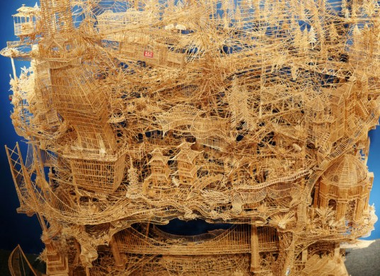100000 toothpick Sculpture