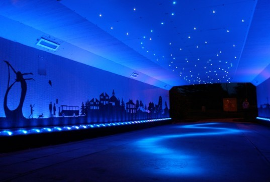 Cumbernauld, Scotland, LED, Street lighting, Green lighting, underpass, innovative LEDs