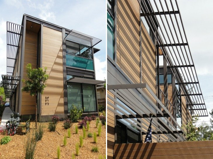 LivingHomes Completes 3 Unit Ray KappeDesigned MultiFamily Residence in Los Altos  Inhabitat