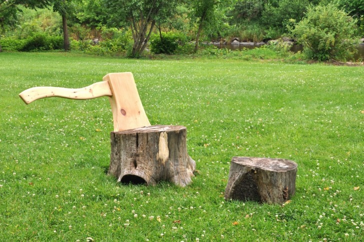 tree stump chairs hon ignition chair user manual axe and lounge gives new life to upturned trunks