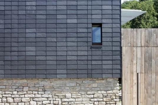 Haus Khle Modern Passive Solar Farmhouse is Wrapped in a Shining Slate Skin  Inhabitat
