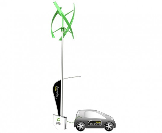 The New Sanya Skypump is a Wind and Solar-Powered Electric