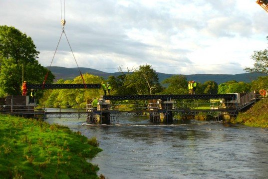 Wales, Tweed River, Vertech, Rutgers, Cardiff, recycled materials, John Buchan Way, Wales, plastic waste, plastic bridge, recycled thermoplastic composite bridge, eco design, sustainable design, green design