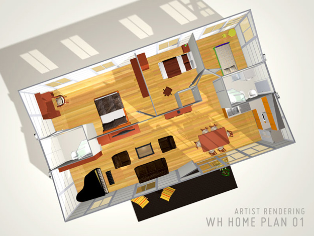 The Winghouse prefabricated container home plans