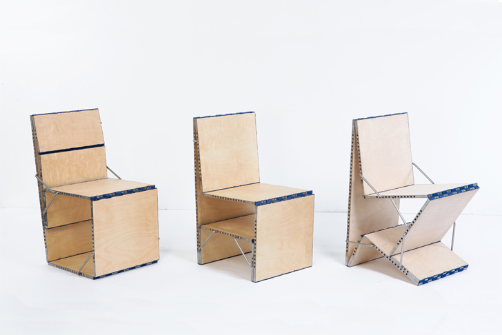 Loop Multifunctional Piece of Furniture Transforms Into a