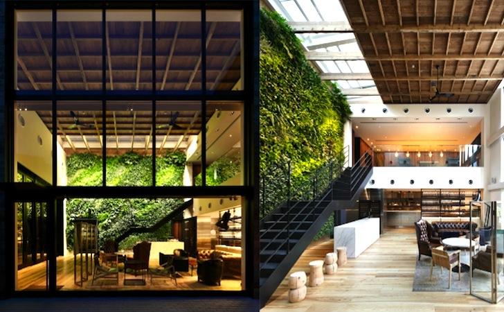 Yoyogi Village in Tokyo Features a Lush Interior Vertical