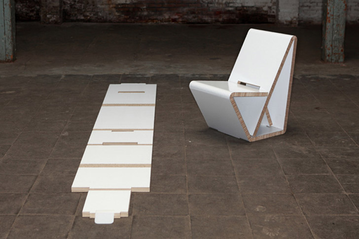 Thonets VouwWow VW01 Is A Flat Pack Recycled Honeycomb