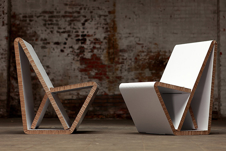 chair design inspiration squatters covers brisbane thonet's vouwwow vw01 is a flat pack recycled honeycomb cardboard | inhabitat - green ...