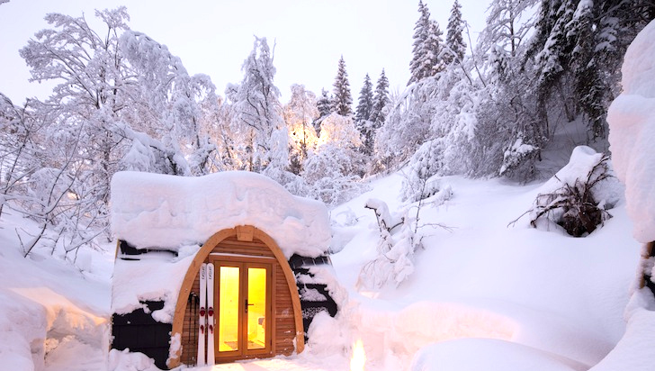 Gorgeous Fall Wallpaper Pristine Eco Pod Hotel Is A Snow Capped Getaway Cabin In