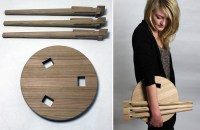 The Wooden Asta Stool is a Simple Seat Inspired by ...