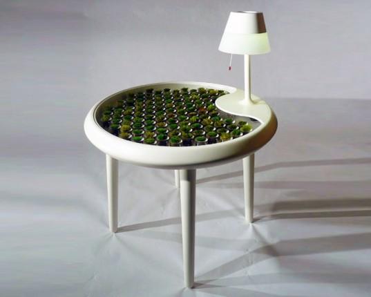Biophotovoltaics, BPV, Moss, Table, Green design, Green furniture, bio energy harvesting