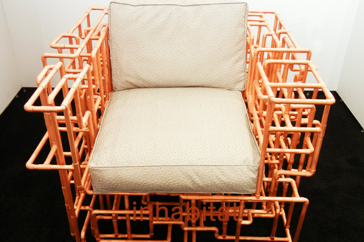 how are chairs made kingpin folding chair canada brc designs american pipe dream and table from a maze of copper piping