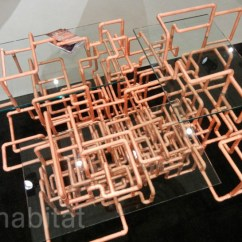 One And A Half Chair Canada Event Covers For Sale Brc Designs' American Pipe Dream Table Are Made From Maze Of Copper Piping ...