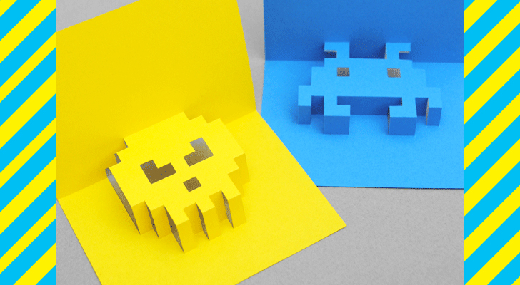 DIY Make Dad An 8 Bit Pop Up Card This Fathers Day Card