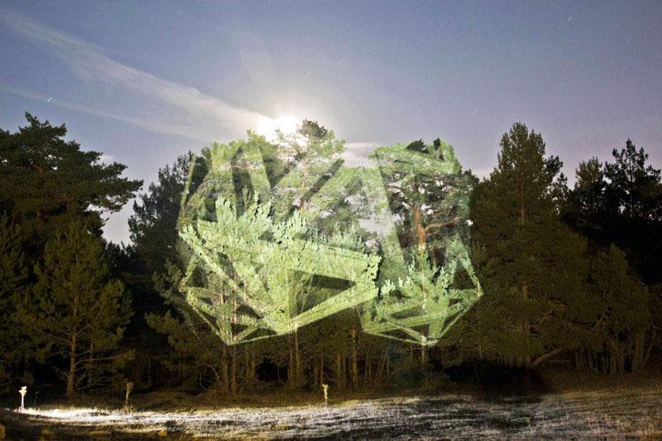 Javier Riera Illuminates The Landscape With Ephemeral