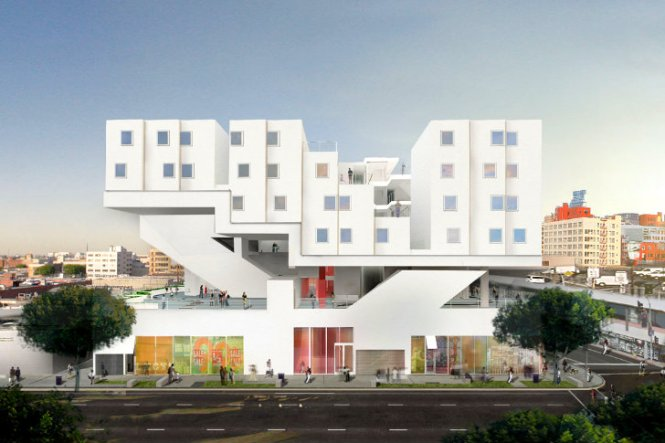 Michael Maltzan S Prefab Star Apartments Are Curly Rising In Downtown La