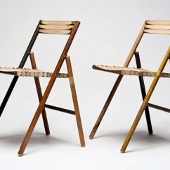 Chair Design With Handle Swing Egypt Reinier De Jong S Steel Is Made From Recycled Broom Handles