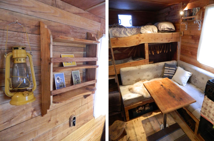 how much does it cost to do a kitchen remodel tool welsh couple transforms old vans into rustic campers with ...