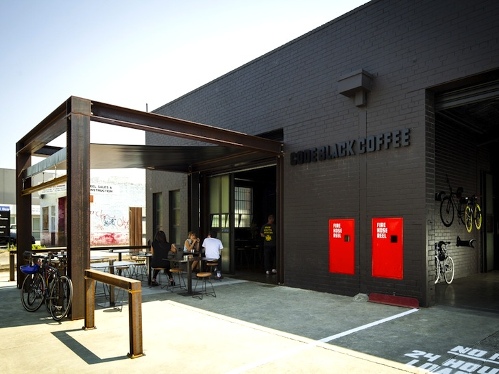 Code Black Coffee Two Melbourne Warehouses Merge To Create Industrial Chic Cafe And Roastery