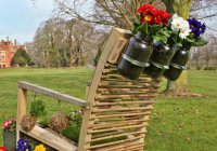 Living Garden Chair Made From Recycled Furniture Features ...