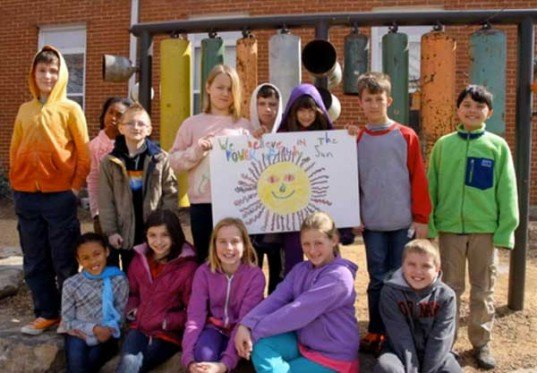 aaron's class, solar panel, elementary school, electricity, grid, renewable, durham, north carolina