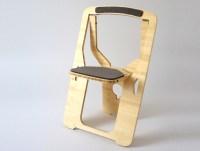 Monstrans' Single-Sheet Bamboo Chair Folds Flat for Easy ...