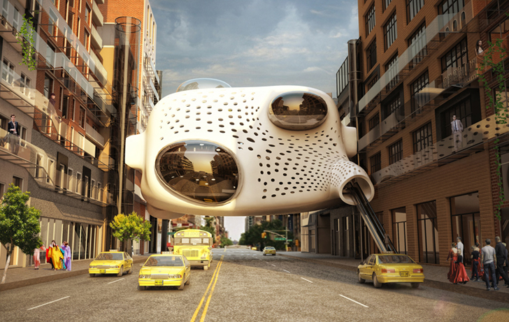 Heart Of The District Is An Innovative Hotel Lobby That Hangs Like A Parasite Between Existing