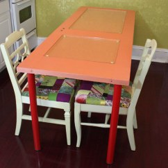 Make Kitchen Table Corner Sets Diy Learn How To A Colorful Dining Using Recycled Door
