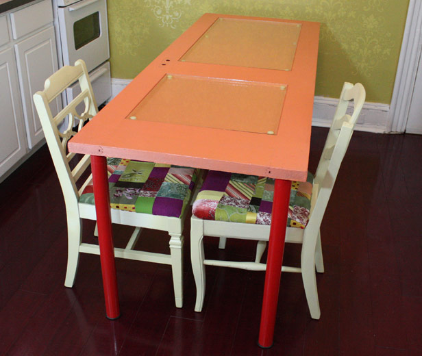 colorful kitchen table vent hoods diy learn how to make a dining using recycled door