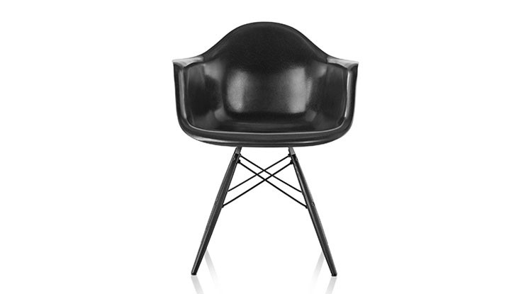black eames chair ophthalmic exam chairs eco fiberglass inhabitat green design collection