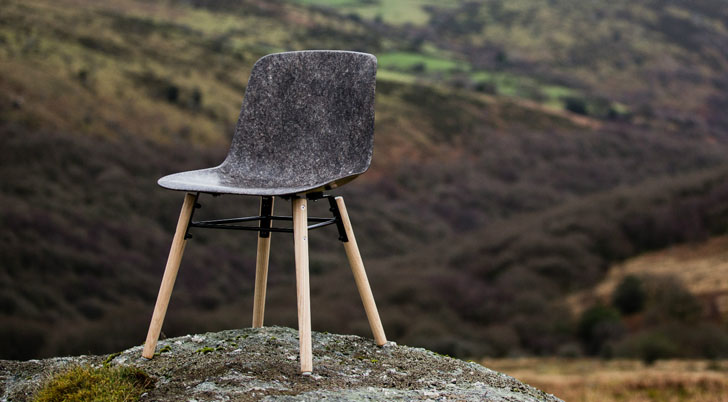 Durable Solidwool Chair is Made from Upland Herdwick Sheep
