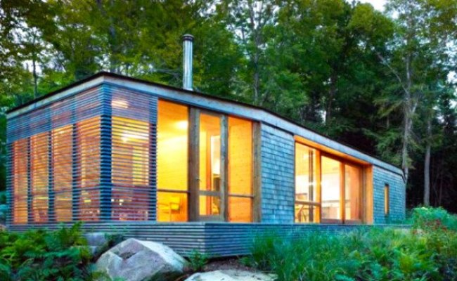 Stealth Cabin Eco Retreat Blends With The Forest In Ontario