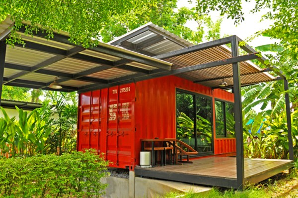 yellow shipping container home