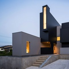 Outside Kitchen Designs Slate Backsplash In Incredible Cubist Scape House By Kouichi Kimura Resembles ...