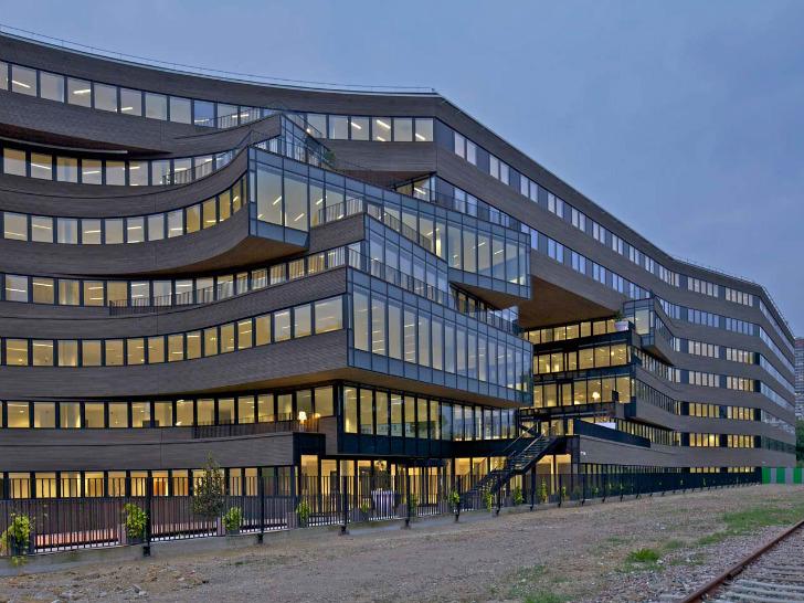 MVRDV's Pushed Slab Hyper-Efficient Office Opens in Paris