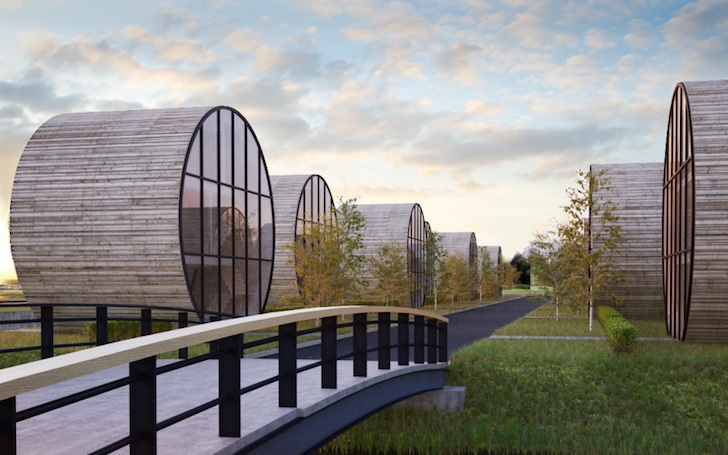 DO Architects Envision Contemporary Tubular Homes Along