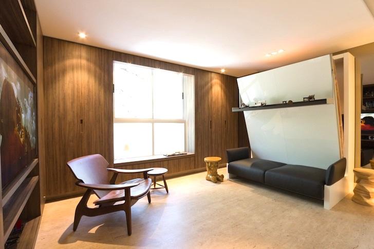 Tiny 290SqFt Studio Boasts a Genius Collection of SpaceSaving Furniture