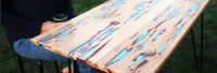 HOW TO: Make a stunning wooden table with glow-in-the-dark ...