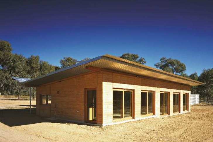 Steffen Welsch Architects Rammed Earth House produces all its own energy and captures all its