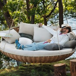Swing Hammock Chair With Stand Green Accent Arms Swingrest Hanging Lounger Is A Floating Basket-like Nest For An Entire Family | Inhabitat ...