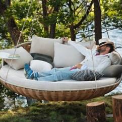 Comfortable Sofa Beds Canada Velvet Tufted Swingrest Hanging Lounger Is A Floating Basket-like Nest ...