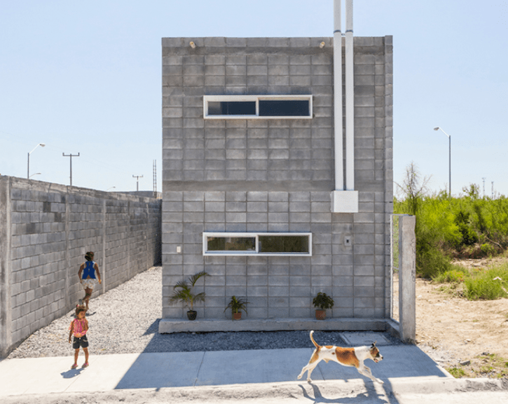"The Casa Caja ""Box House"" By S AR Is A Model For Low Cost Concrete"