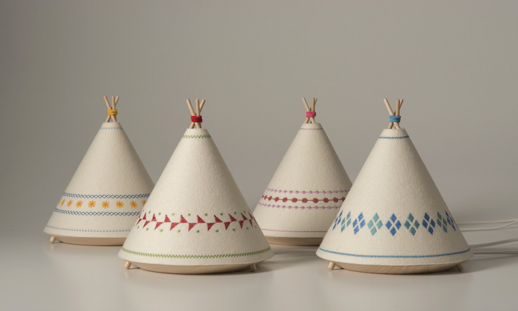Adorable TIPI Lamps are made from natural materials and