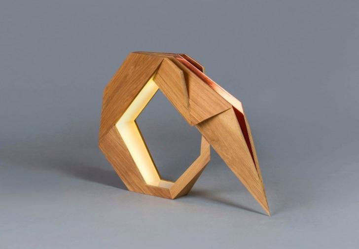 Aljoud Lootahs Oru origami furniture is made from teak