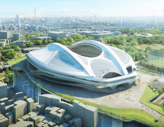 Shinzo Abe, Yoshihide Suga, Zaha Hadid, Tokyo National Stadium, 2020 Olympic Stadium, Tokyo Olympic Stadium, Hadid Tokyo stadium, Tokyo stadium controversy