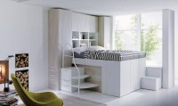 Smart space-saving bed hides a walk-in closet underneath ...