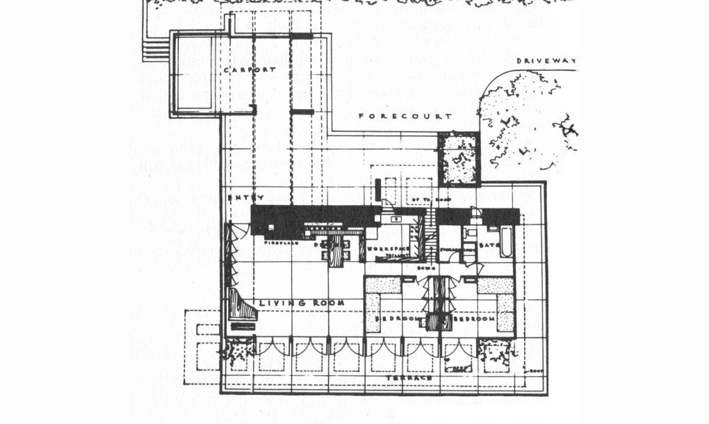 Frank Lloyd Wright's Usonian-style George Sturges House to