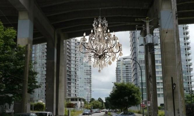 Vancouver Lights Up A Dark Highway Overpass With Massive Chandelier