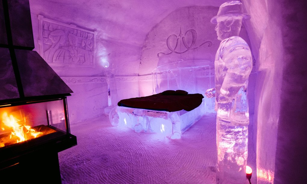 chairs for sleeping childrens wicker uk quebec's hôtel de glace unveils 2016 design made of 500 tons ice and 30,000 snow ...